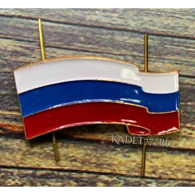Золотая кокарда флаг Российский