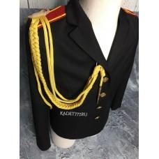 Аксельбант для кадет желтого цвета с одним наконечником