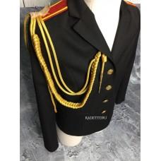 Аксельбант для кадет золотокого цвета офицерский