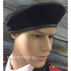 Берет для кадет черный со швом