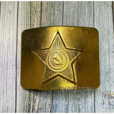 Латунная бляха кадетская со звездой