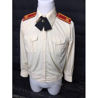Рубашка кадетская кремового цвета для девочек