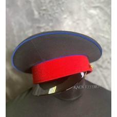 Фуражка для кадет синий кант, красный околыш