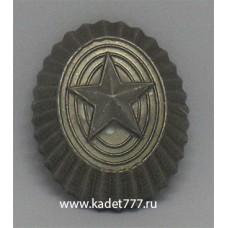 Кокарда камуфляжной расцветки со звездой, металлическая