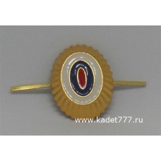 Кокарда МВД золотая металлическая