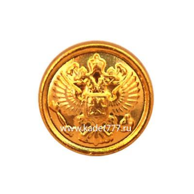 Пуговица на погоны с орлом (золото)