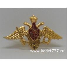 Эмблема кадетская на тулью фуражки золотая
