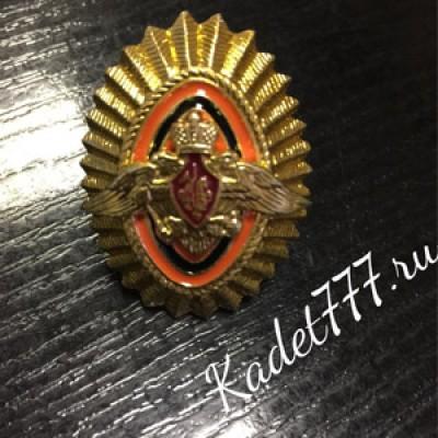 Кокарда металлическая золотая пограничные войска