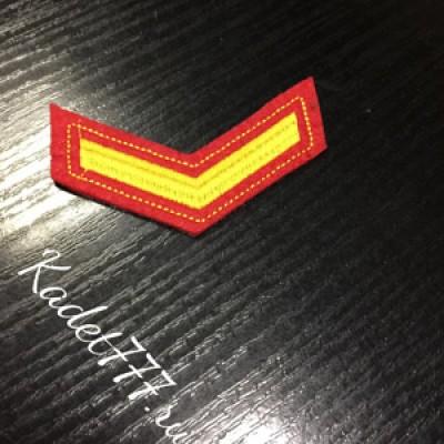 Курсовка для кадет на 1 курс на красном фоне