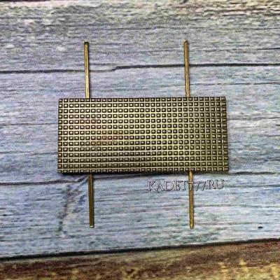 Металлическая лычка МВД 20*45 камуфляж для старшины