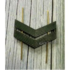 Камуфляжные лычки младшего вице сержанта из металла