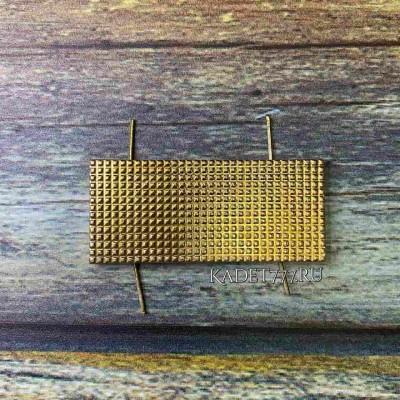Металлическая лычка МВД 20*45 золотая для старшины