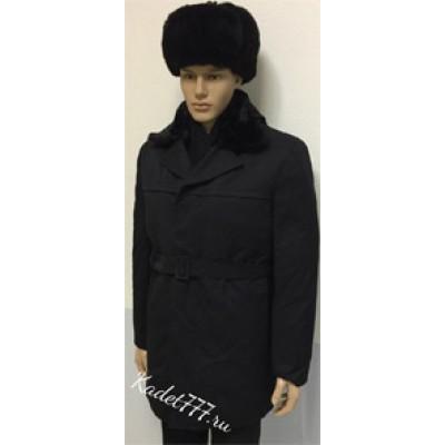 Пальто кадетское зимнее черное.