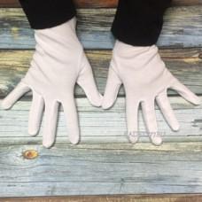 Кадетские парадные перчатки из хлопка. 16-18-20 размеры