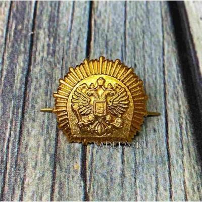 Петлицы и эмблемы для кадет золотые металлические