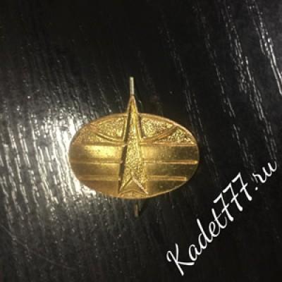 Петлицы и эмблемы Космические войска металлические. Золото