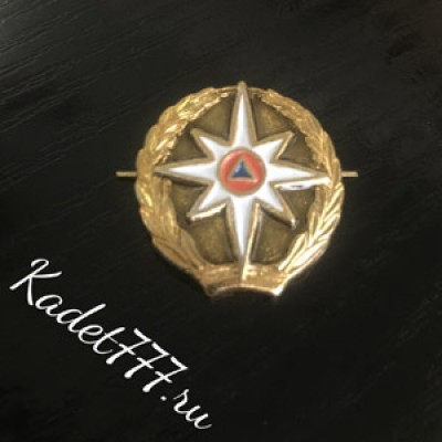Петлицы и эмблемы МЧС парадные, металл