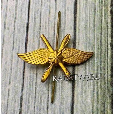 Петлицы для кадет ВКС нового образца золотые