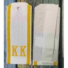 Белые рубашечные погоны для кадет КК