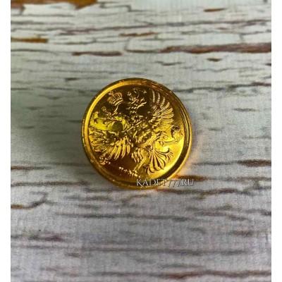 Пуговицы на китель кадетский на 22 мм золотые