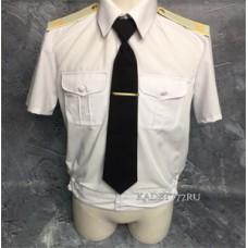 Рубашка белая кадетская с коротким рукавом