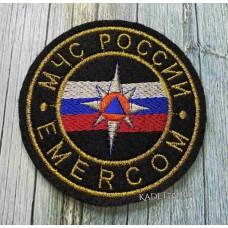 Круглый шеврон для кадет МЧС EMERCOM
