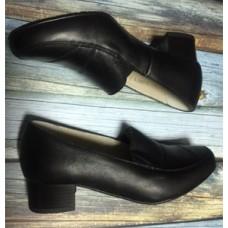 Туфли кадетские для девочек на каблуке