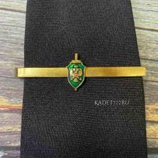 Зажим для ФСБ ПВ зеленого для форменного мужского галстука
